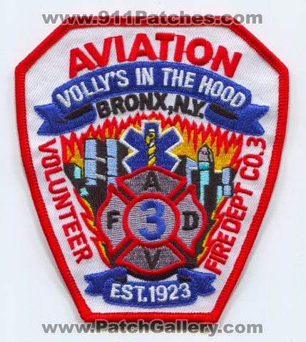 Aviation Volunteer Fire Department Company 3 Patch New York NY