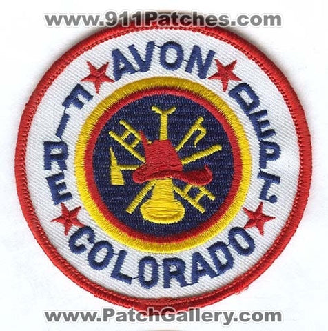 Avon Fire Department Patch Colorado CO