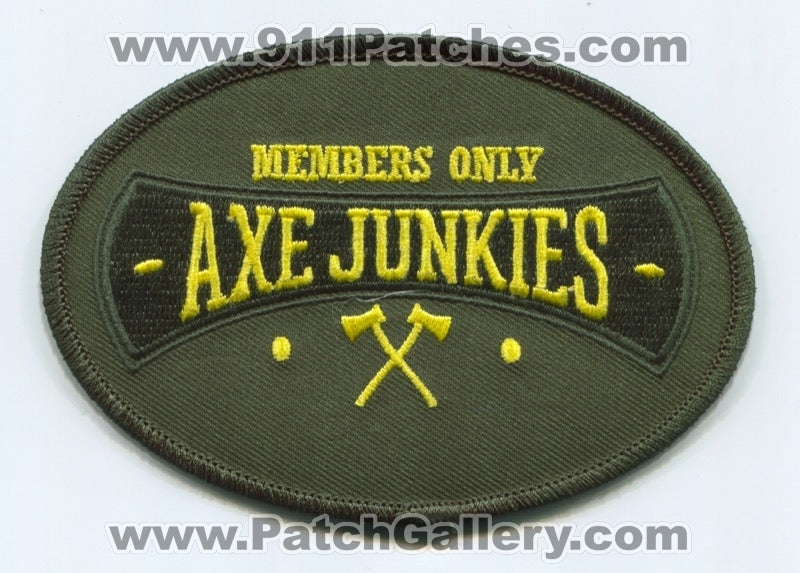 Axe Junkies Members Only Patch Unknown State