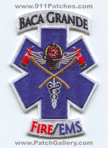 Baca Grande Fire EMS Department Patch Colorado CO