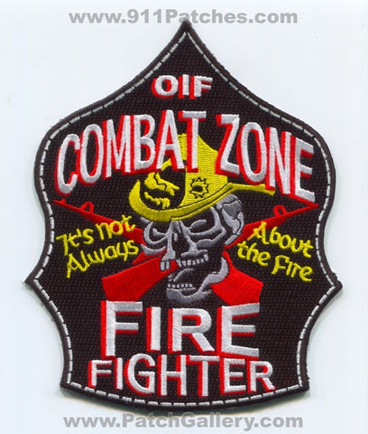 Iraq - Baghdad Fire Department Combat Zone Firefighter OIF Military Patch