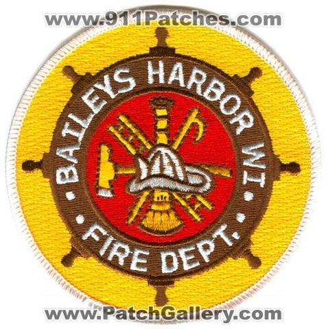 Baileys Harbor Fire Department Patch Wisconsin WI