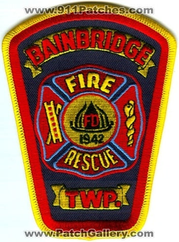 Bainbridge Township Fire Rescue Department Patch Ohio OH