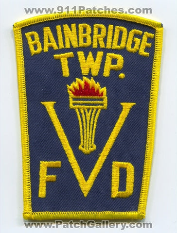 Bainbridge Township Volunteer Fire Department Patch Ohio OH