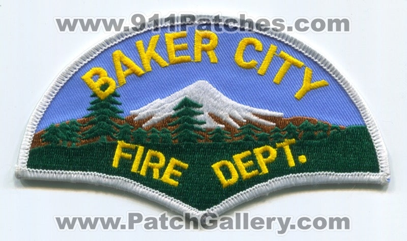 Baker City Fire Department Patch Oregon OR