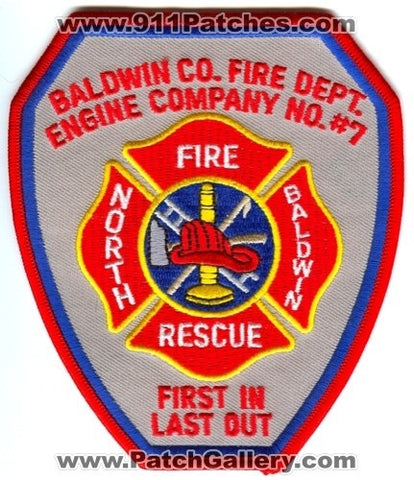 Baldwin County Fire Department Engine Company Number 7 Patch Georgia GA