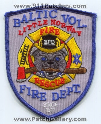 Baltic Volunteer Fire Rescue Department Patch South Dakota SD