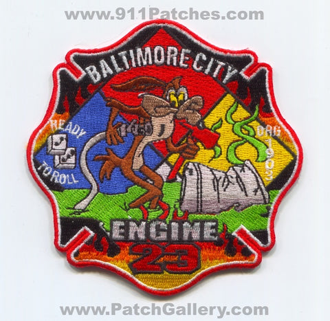 Baltimore City Fire Department Engine 23 HazMat Patch Maryland MD