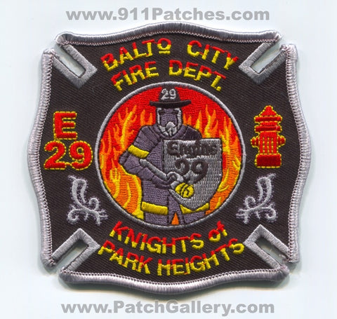 Baltimore City Fire Department BCFD Engine 29 Patch Maryland MD