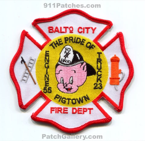 Baltimore City Fire Department Engine 55 Truck 23 Patch Maryland MD v2