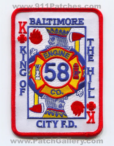 Baltimore City Fire Department BCFD Engine 58 Patch Maryland MD