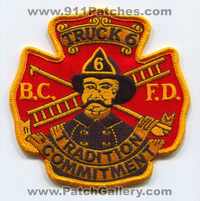 Baltimore City Fire Department BCFD Truck 6 Patch Maryland MD