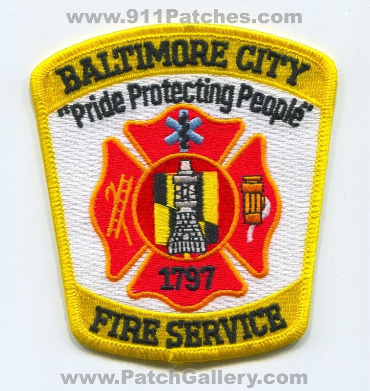 Baltimore City Fire Service Department Patch Maryland MD
