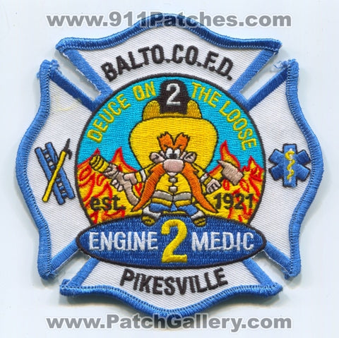 Baltimore County Fire Department Engine 2 Medic 2 Patch Maryland MD