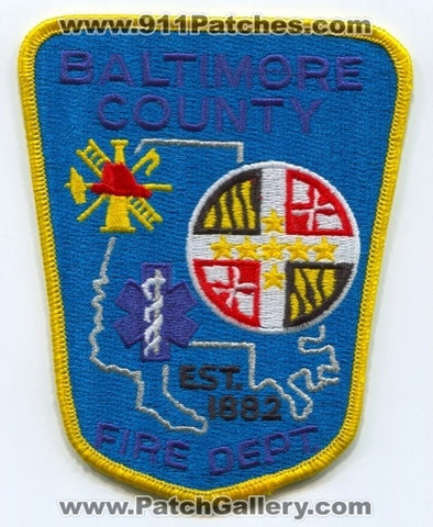 Baltimore County Fire Department Patch Maryland MD