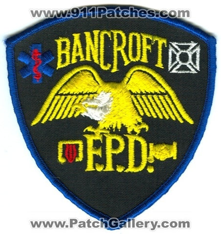 Bancroft Fire Protection District Patch Colorado CO Defunct SKU101