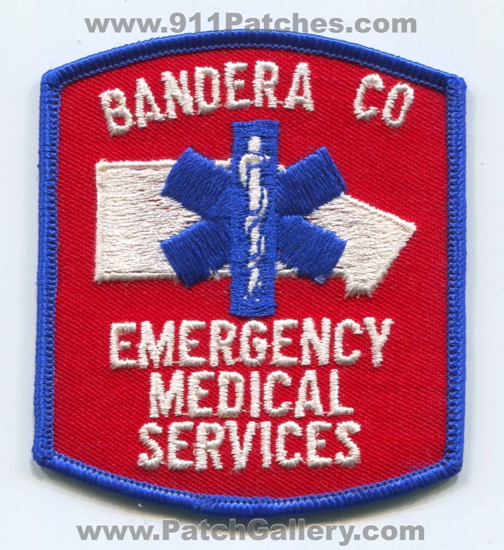 Bandera County Emergency Medical Services EMS Patch Texas TX