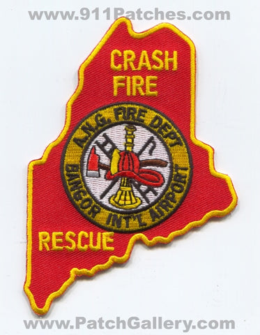 Bangor International Airport Crash Fire Rescue ANG USAF Military Patch Maine ME