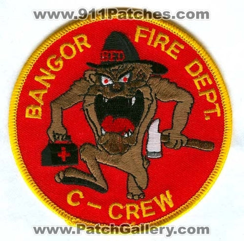 Bangor Fire Department C-Crew Patch Maine ME