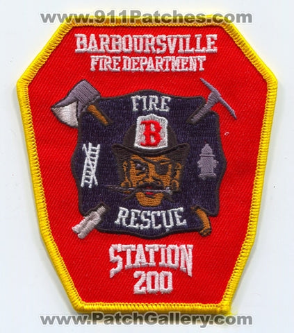 Barboursville Fire Rescue Department Station 200 Patch West Virginia WV