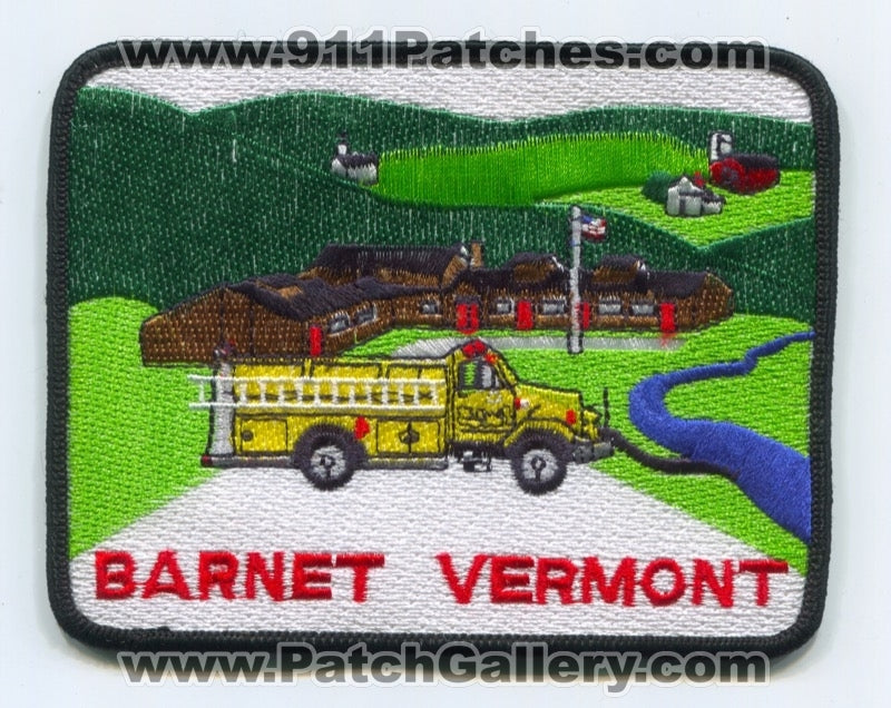 Barnet Fire Department Patch Vermont VT