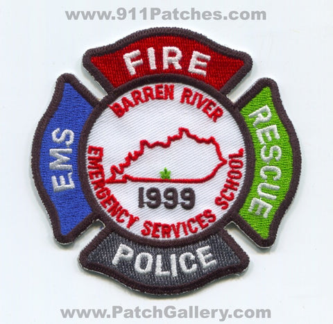 Barren River Emergency Services School Fire Rescue EMS Police Patch Kentucky KY