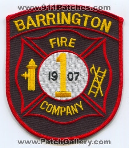 Barrington Fire Company 1 Patch New Jersey NJ