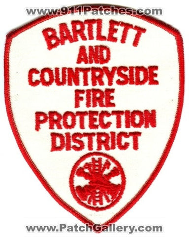Bartlett and Countryside Fire Protection District Patch Illinois IL
