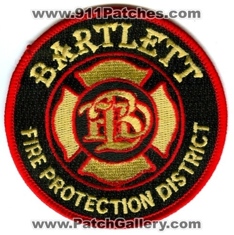 Bartlett Fire Protection District Patch Illinois IL