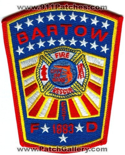 Bartow Fire Rescue Department Patch Florida FL