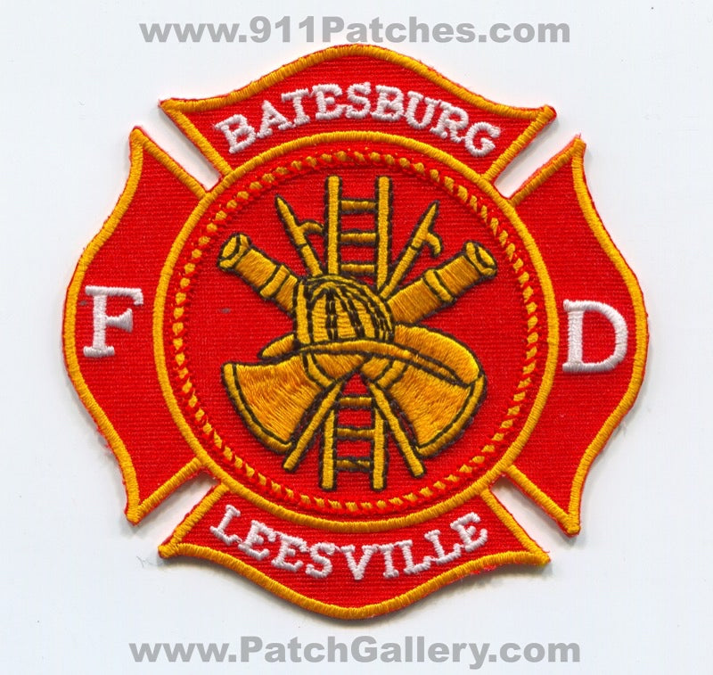Batesburg Leesville Fire Department Patch South Carolina SC