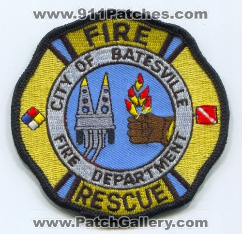 Batesville Fire Rescue Department Patch Mississippi MS