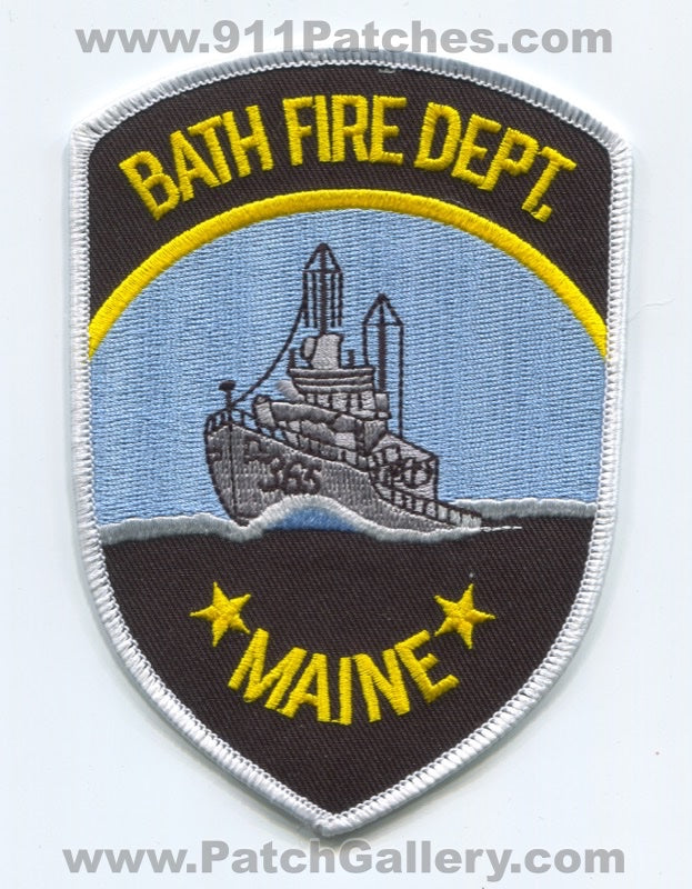 Bath Fire Department Patch Maine ME