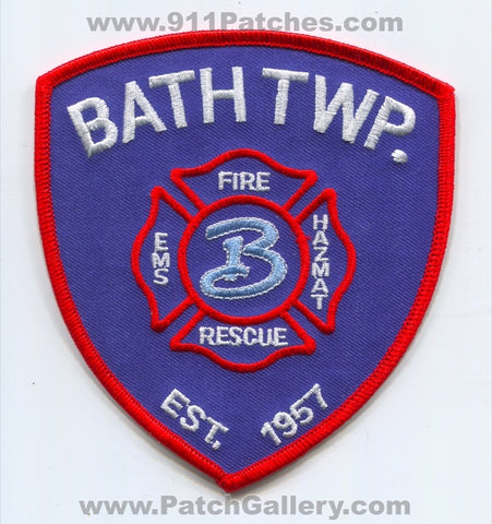 Bath Township Fire Rescue Department Patch Ohio OH