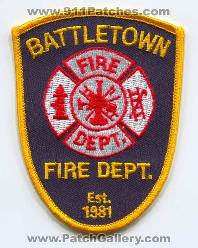 Battletown Fire Department Patch Kentucky KY