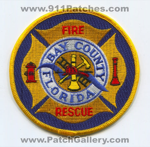 Bay County Fire Rescue Department Patch Florida FL