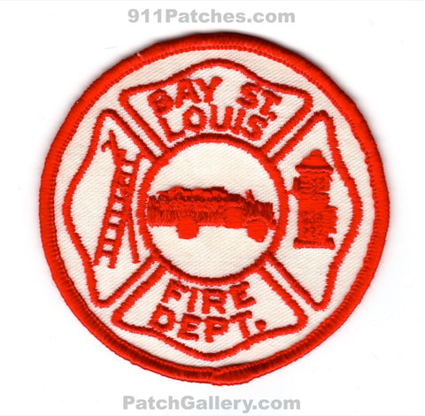 Bay Saint Louis Fire Department Patch Mississippi MS
