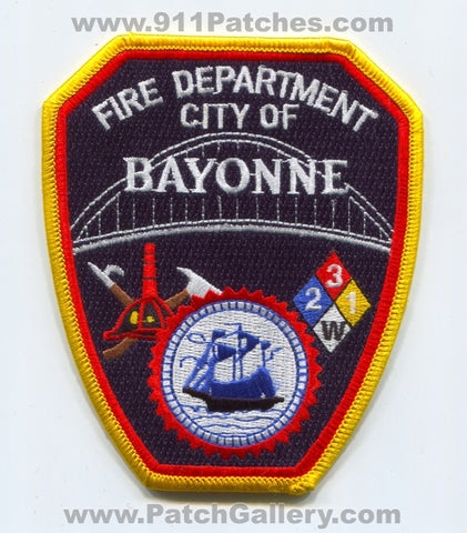 Bayonne Fire Department Patch New Jersey NJ