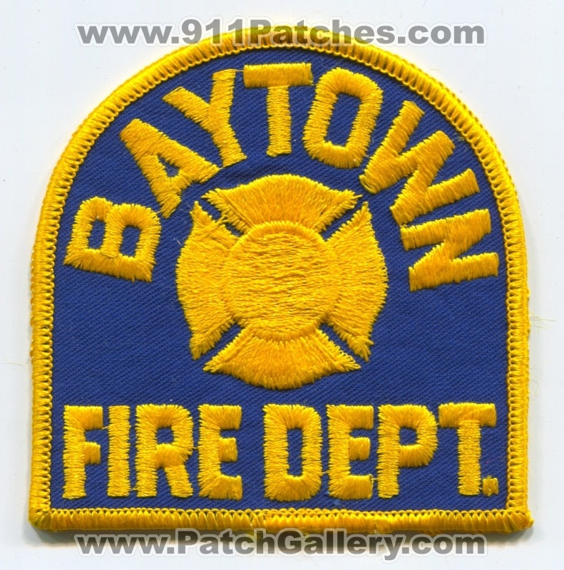 Baytown Fire Department Patch Texas TX