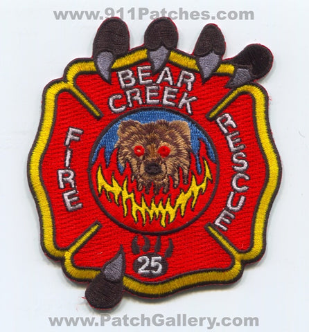 Bear Creek Fire Rescue Department Patch South Carolina SC