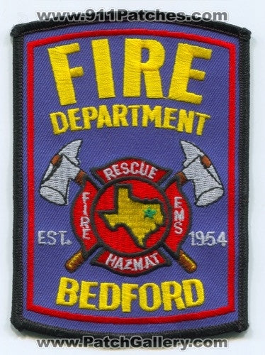 Bedford Fire Rescue Department Patch Texas TX