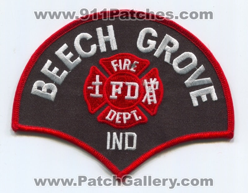 Beech Grove Fire Department Patch Indiana IN