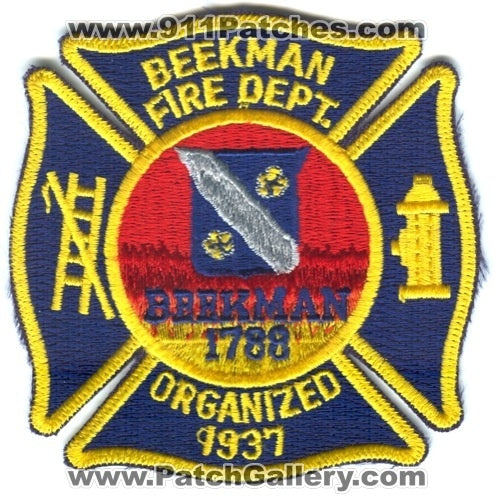 Beekman Fire Department Patch New York NY