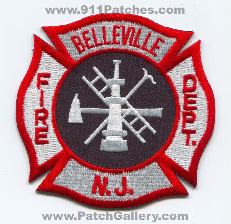 Belleville Fire Department Patch New Jersey NJ