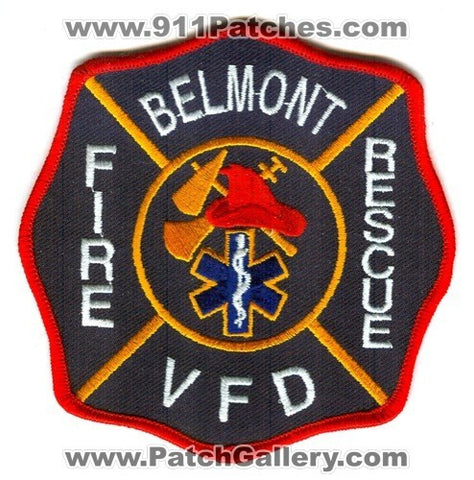 Belmont Volunteer Fire Rescue Department Patch Unknown State