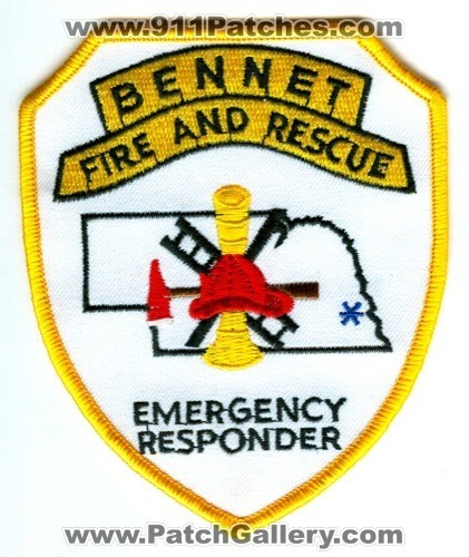 Bennet Fire and Rescue Department Emergency Responder Patch Nebraska NE