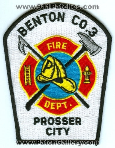 Benton County Fire District 3 Prosser City Patch Washington WA