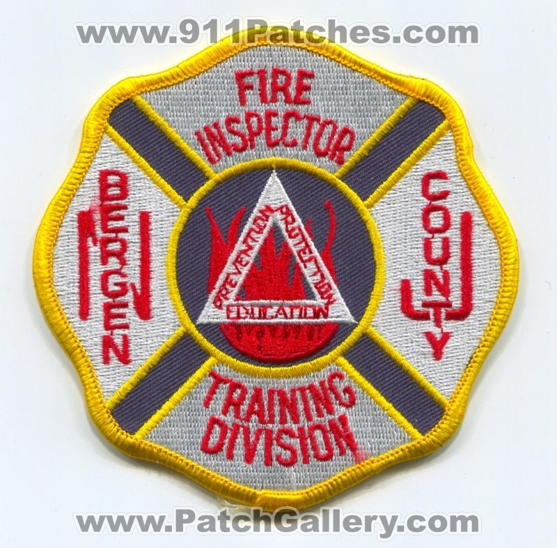Bergen County Training Division Fire Inspector Patch New Jersey NJ