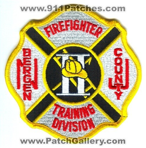 Bergen County Training Division Firefighter II Patch New Jersey NJ
