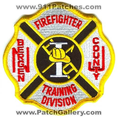 Bergen County Training Division Firefighter I Patch New Jersey NJ
